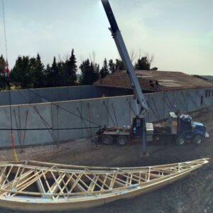 Crane For Roofing And Trusses   ARCO Building Industries